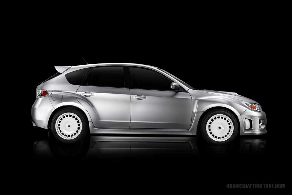 Modified WRX hatchback