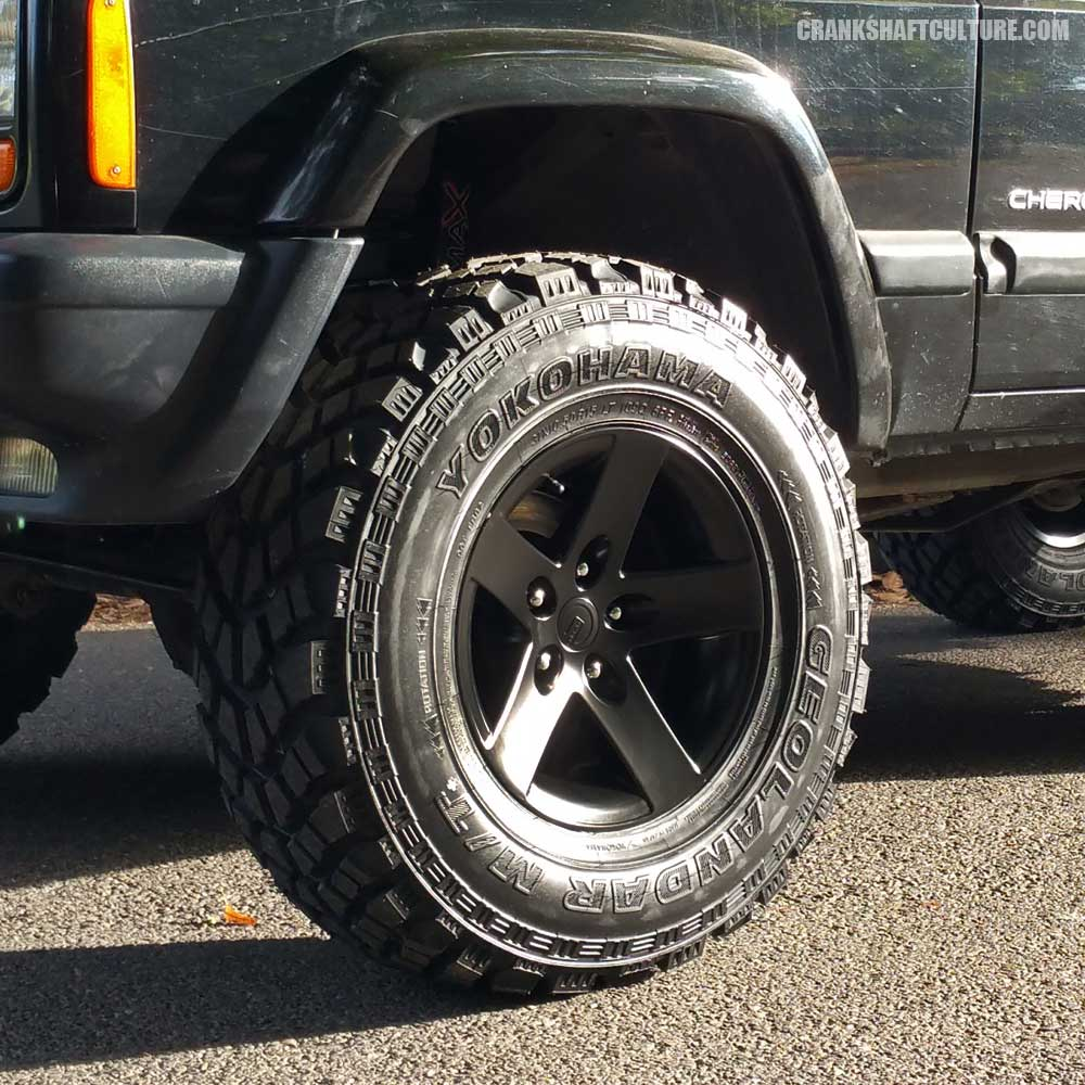 31x10.50 Yokohama Geolandar MT+ on Cranky - Project Jeep Cherokee