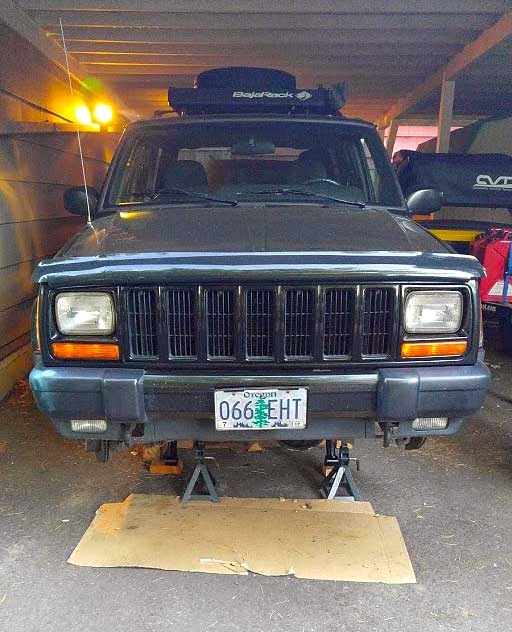 Jeep on jackstands