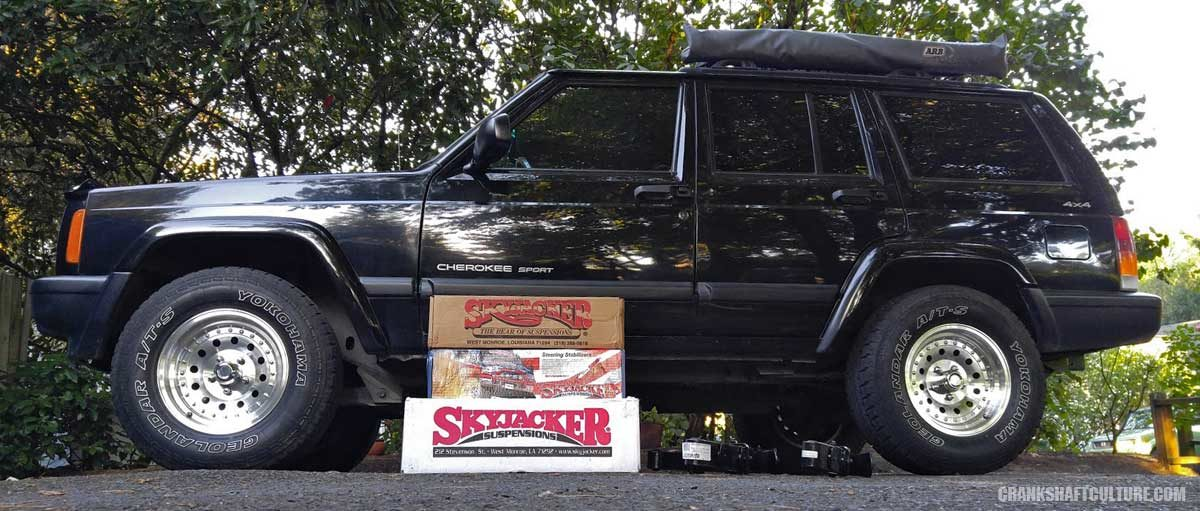 Skyjacker 3 inch lift Jeep Cherokee