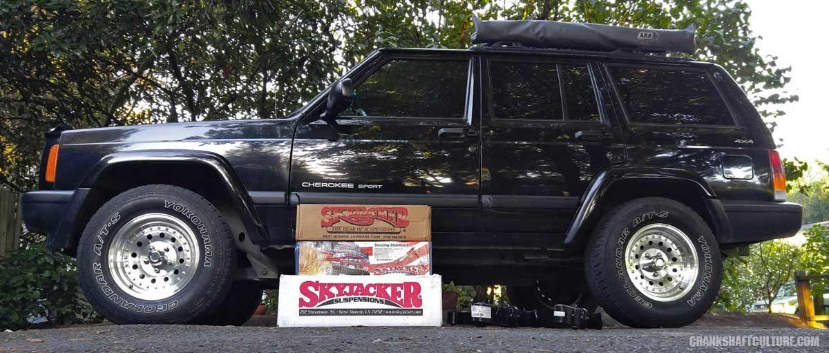 Skyjacker 3 inch lift Jeep Cherokee