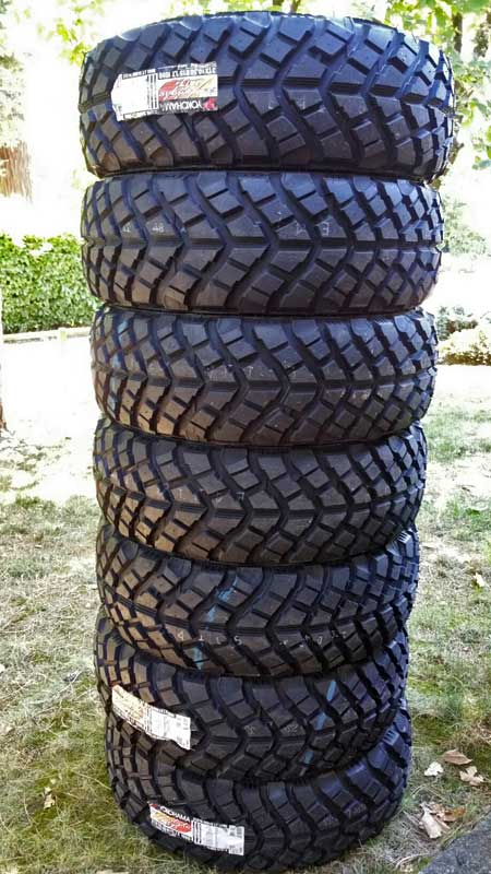 31x10.50 Yokohama Geolandar MT+ tires