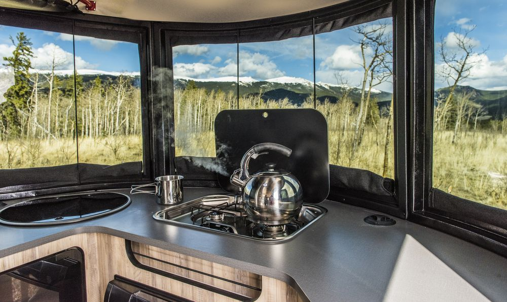 Airstream Basecamp galley