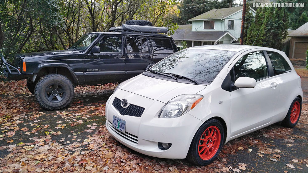 Our Toyota Yaris and Jeep Cherokee