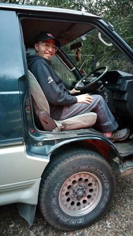 Me driving a Delica