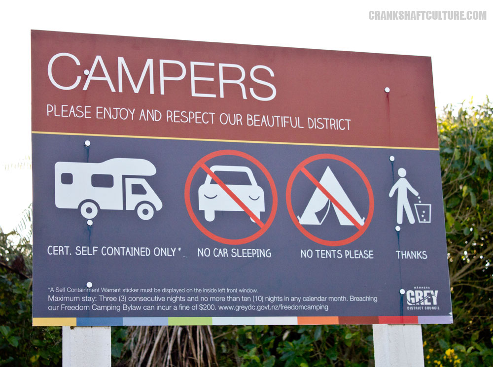 self contained campervans only