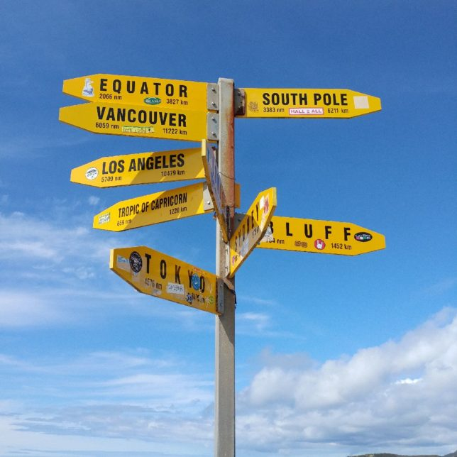 Sign in Cape Reinga, New Zealand