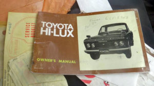1971 Toyota Hilux owner's manual