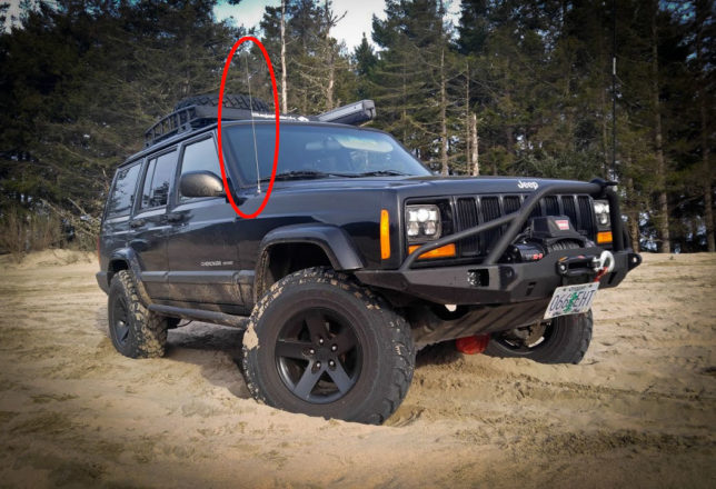 Jeep Cherokee stock antenna