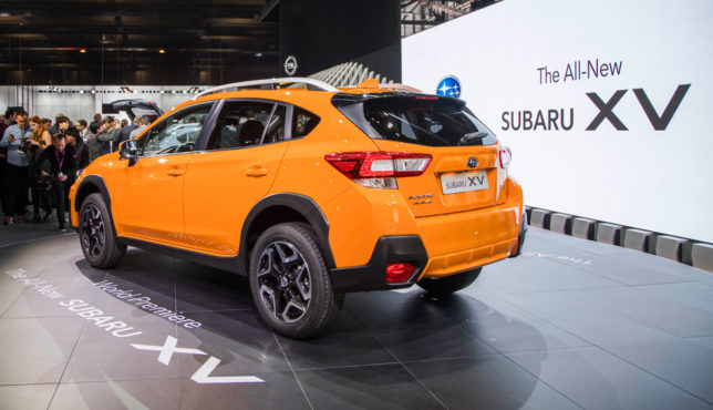 Orange 2018 Subaru Crosstrek