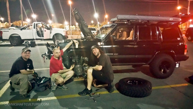 Fixing the brake caliper in Vegas