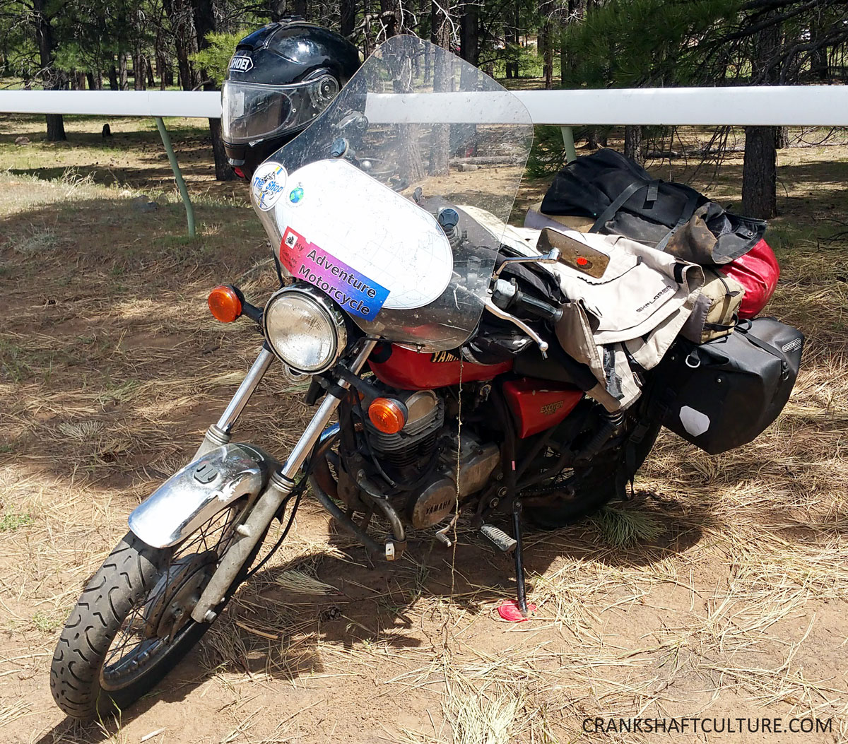 ' ' from the web at 'http://crankshaftculture.com/wp-content/uploads/2017/05/Andrew-C.-Pains-motorbike.jpg'