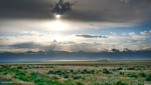 Sun rays US50 Nevada