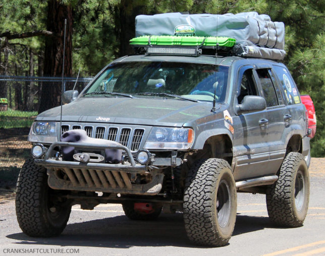 'Overland Jeep Grand Cherokee' from the web at 'http://crankshaftculture.com/wp-content/uploads/2017/05/Jeep-Grand-Cherokee-644x508.jpg'