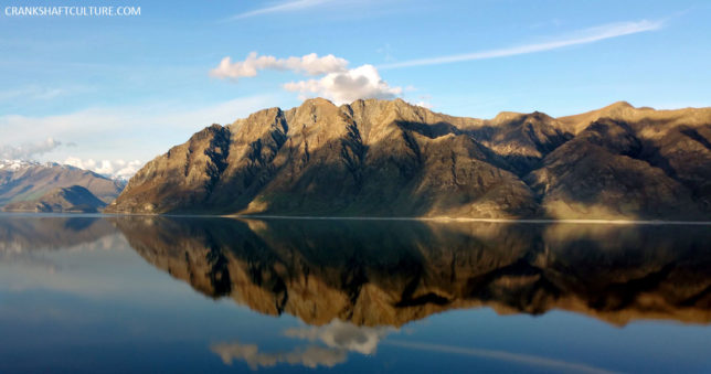 This is a stunning place on Earth: Lake Hawea just outside of Wanaka, New Zealand.