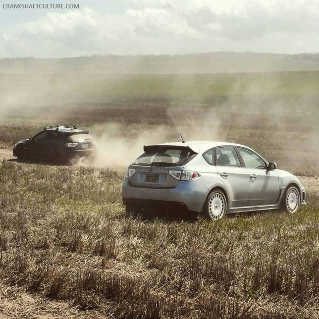 Rexie in her natural habitat: enjoying the dust and gravel during the Oregon Trail Rally.