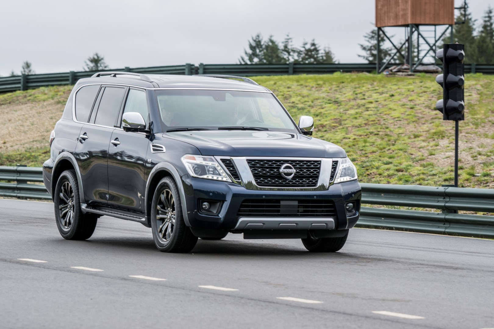Nissan Armada on-road at Mudfest