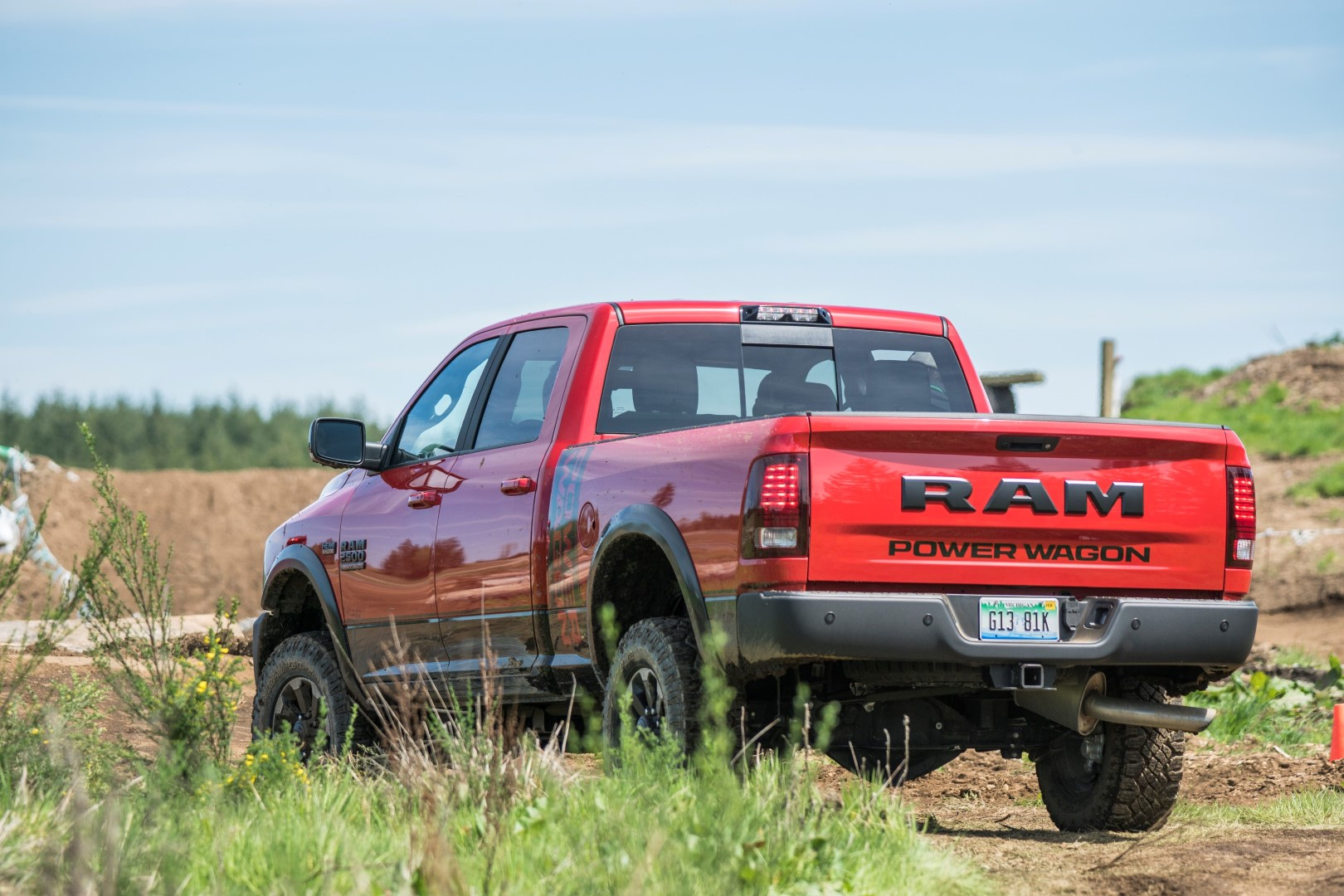RAM Power Wagon in the dirt