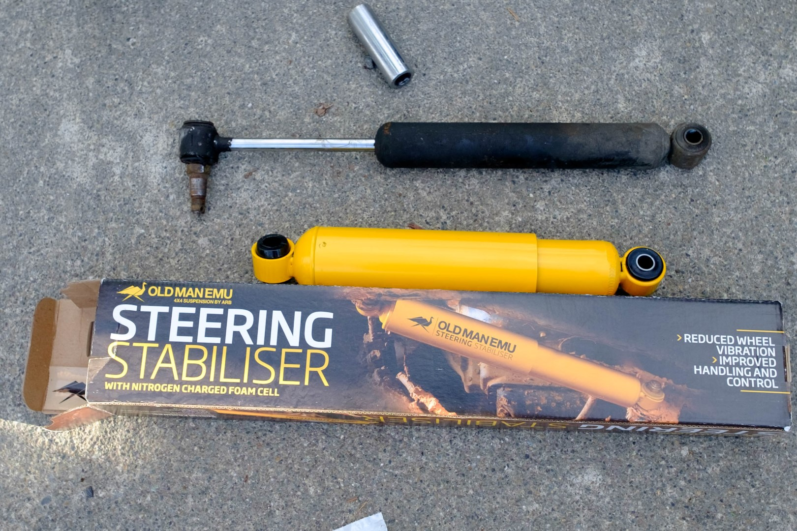 New steering stabilizer