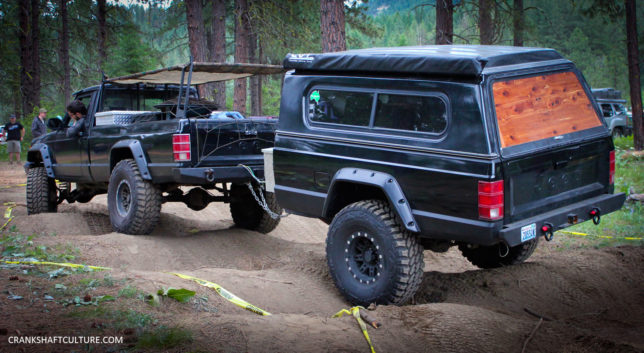 Jeep Comanche with trailer