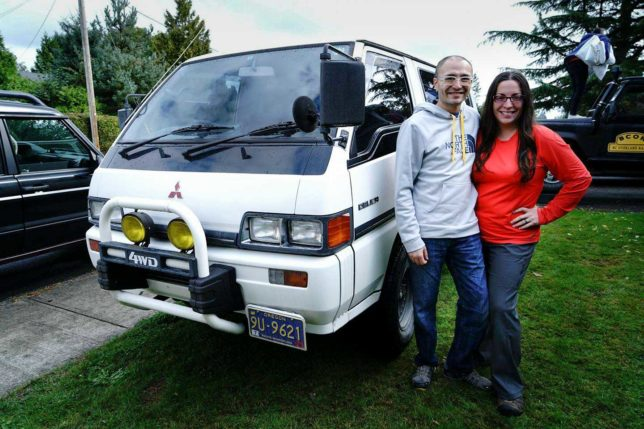 Andy and Mercedes with the Delica