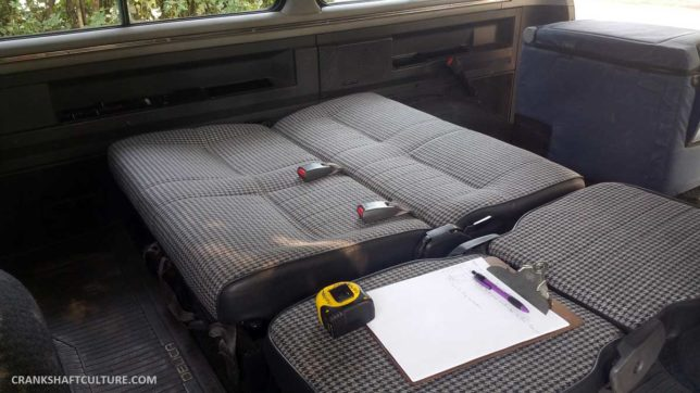 Delica bench seat
