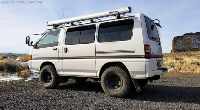 Our Mitsubishi Delica at Fort Rock, Oregon.