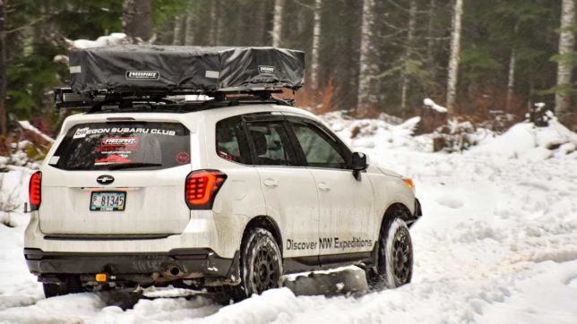 Eric Green's forester going through the snow