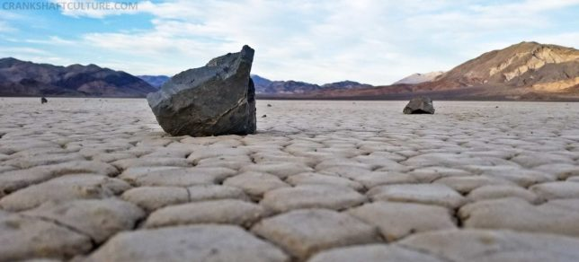 One of the rocks that could slide across the Playa, but ONLY if conditions are perfect.