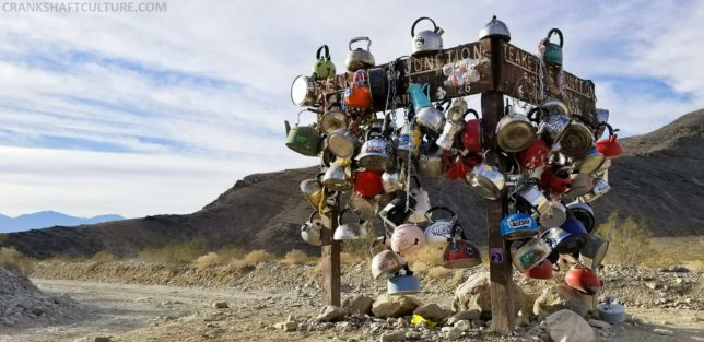 Teakettle Junction is along Racetrack Valley Road. Bring a teakettle if you wish to leave one!