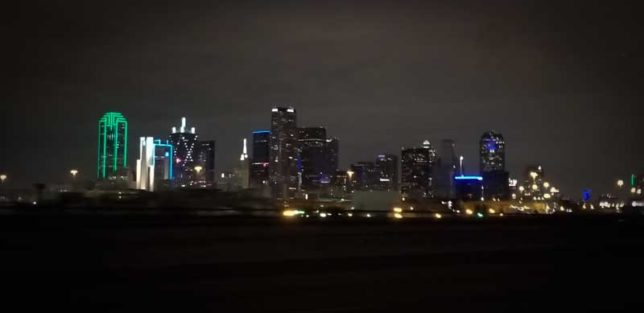 The Dallas, TX skyline