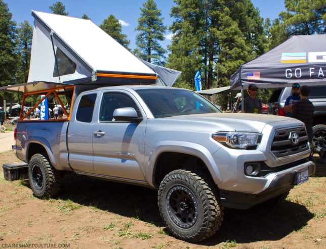 A solid choice for a rooftop tent and truck topper: from Go Fast Campers.