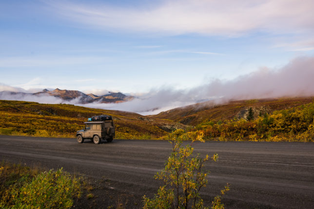 Northwest Territory fall colors and Dempster mud = a perfect combination.