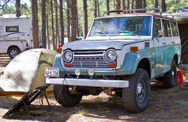 A gem found at Expo, a Toyota FJ55 Land Cruiser, otherwise known as the Iron Pig.