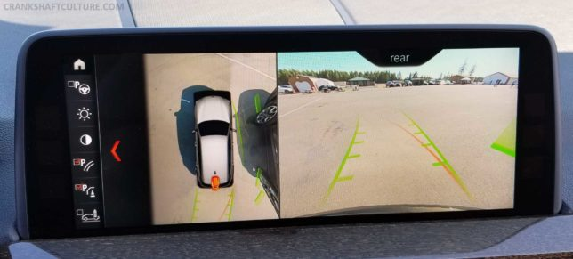 BMW X3 xDrive 30i rearview camera