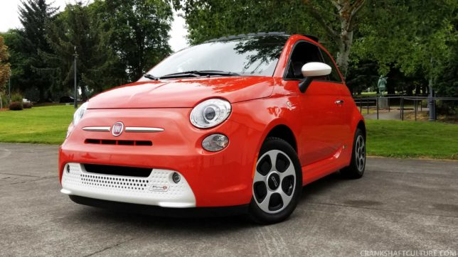 Responsive, sassy, and small, the 2017 Fiat 500e EV is a hoot to drive.