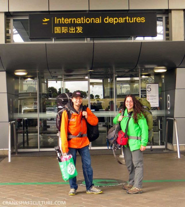 Andy and Mercedes at the Auckland International Airport in New Zealand