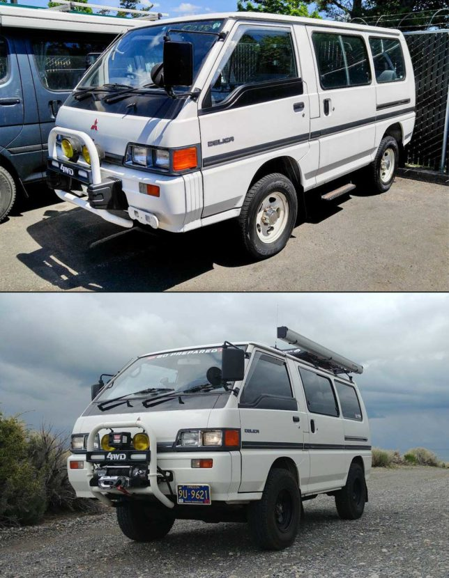 Delica Before and After