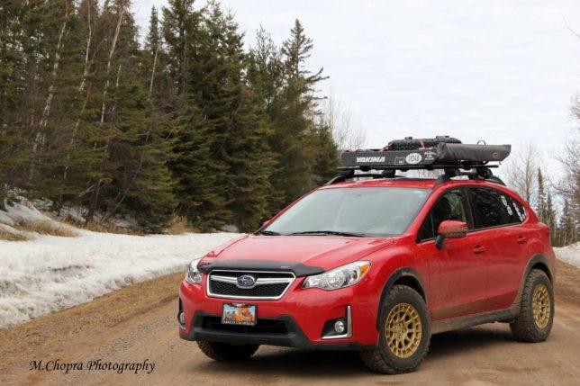2016 Red Subaru Crosstrek
