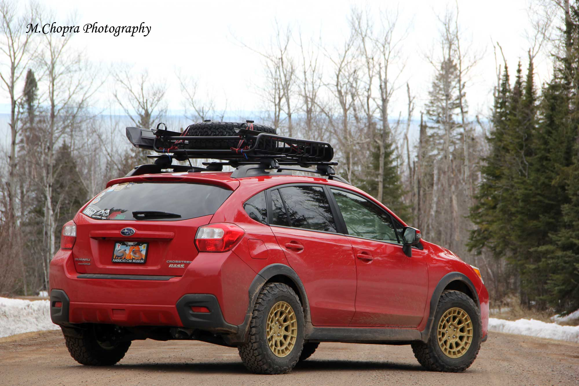 Lifted Red Subaru Crosstrek
