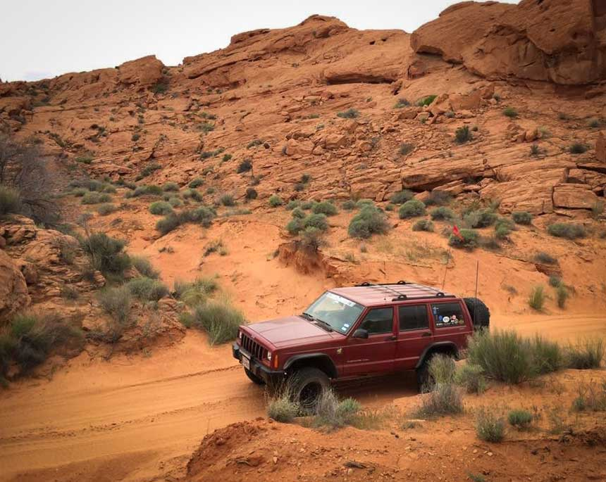 Jeep Cherokee on the trail