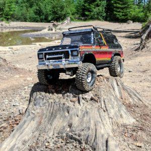 Traxxas TRX-4 Ford Bronco on stump