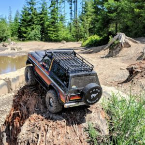 Traxxas TRX-4 at Mud Lake in Tahuya State Forest