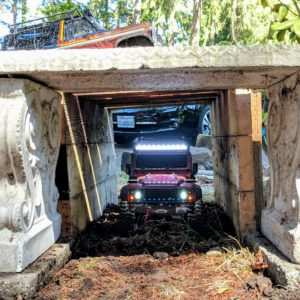 Land Rover in the tunnel