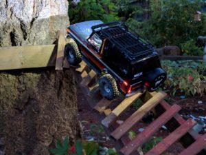 TRX-4 Bronco on wooden bridge