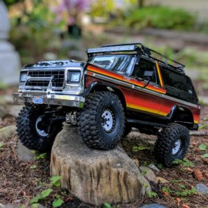 Posing with the Traxxas TRX-4 Bronco