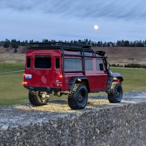 Traxxas TRX-4 Land Rover Defender 110 at twilight