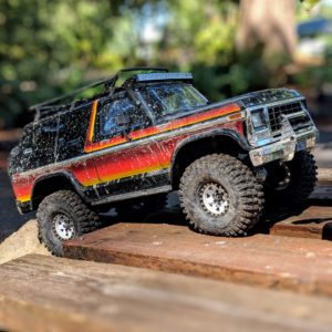 TRX-4 Ford Bronco on wood