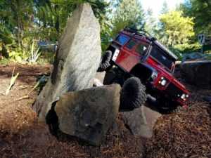 Traxxas Defender 110 in the rocks
