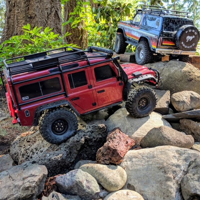 My Traxxas TRX-4 Land Rover Defender 110 and Ford Bronco